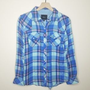Rails Blue, Red, And Green Plaid Button Down